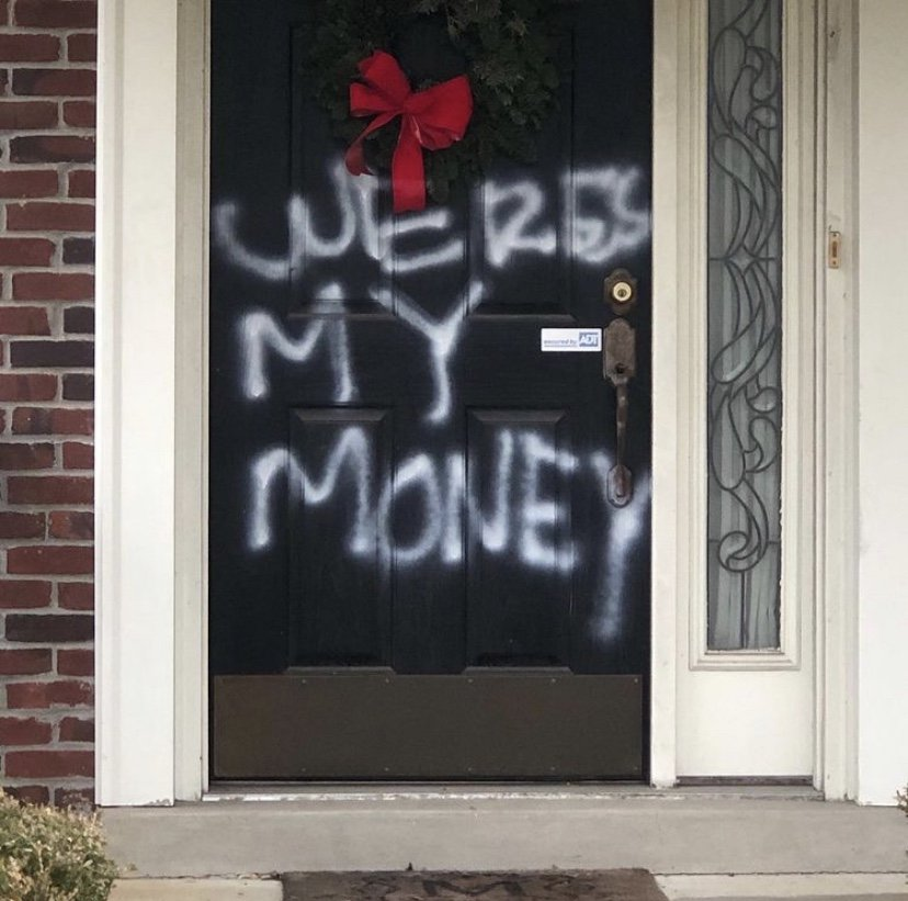 Mitch McConnell house vandalized