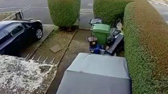 High speed bike crash caught on camera