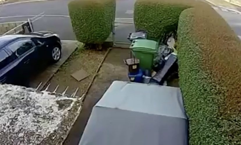 High speed bike crash caught on camera