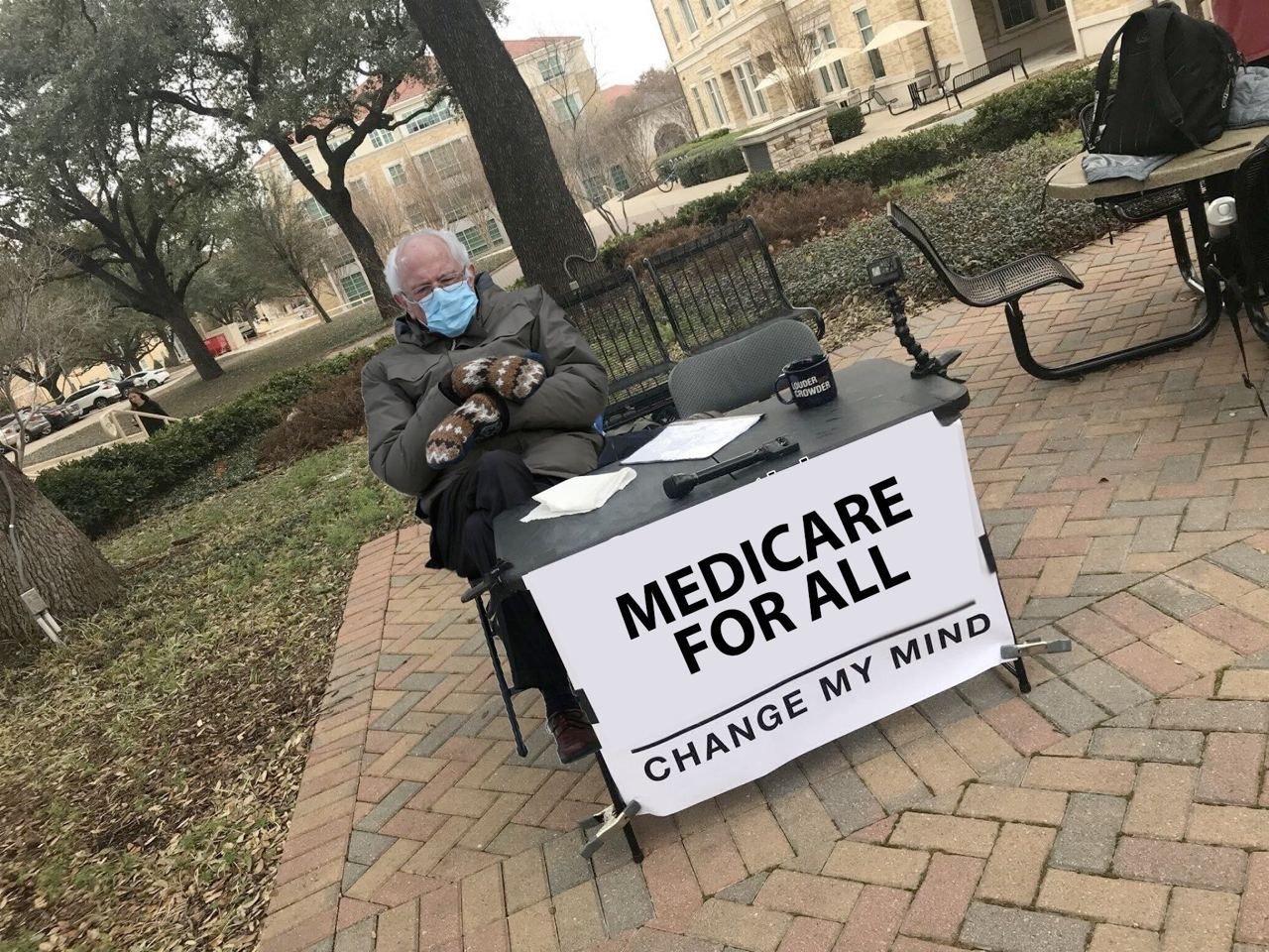 Medicare for all Bernie Sanders meme