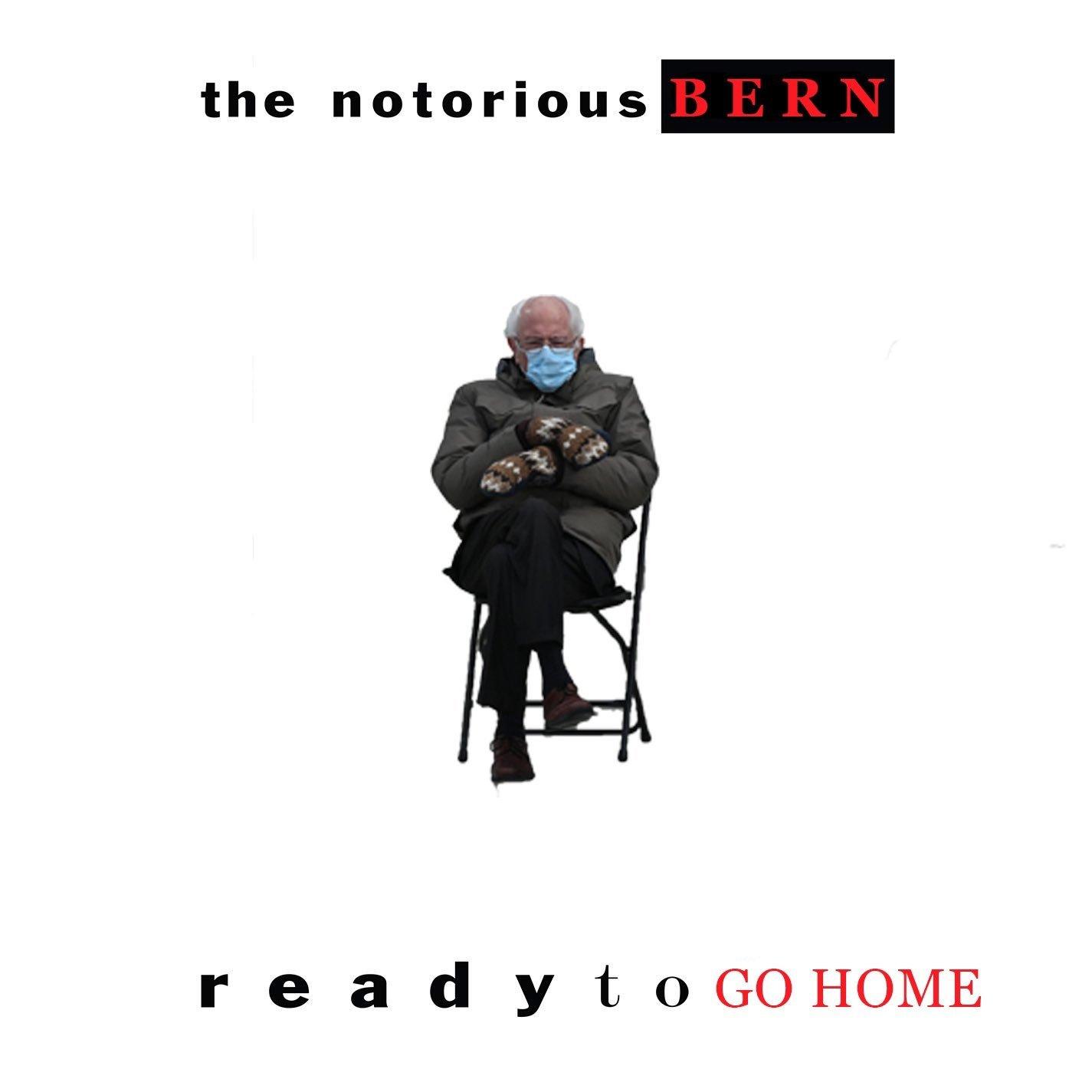 The notorious Bern Bernie Sanders meme