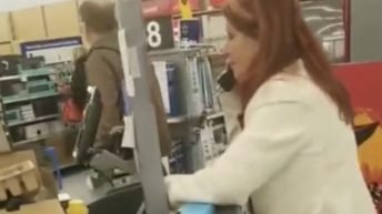 Customer answers Walmart's phone