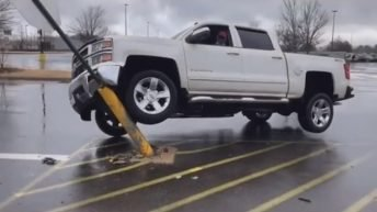 Dropping truck from accident