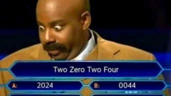 Two zero two four who wants to be a millionaire meme