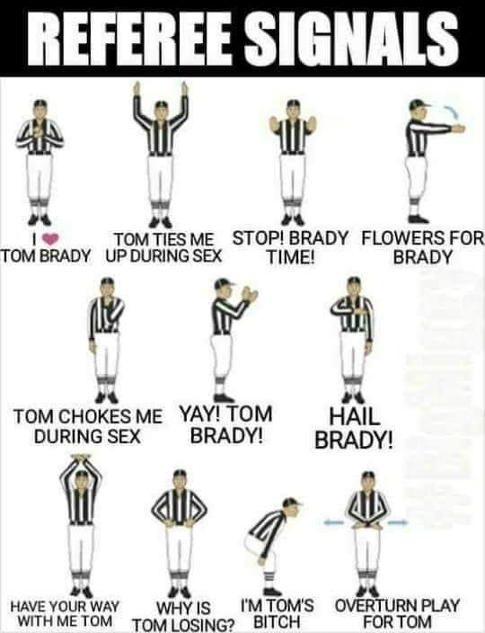 Tom Brady referee signals meme
