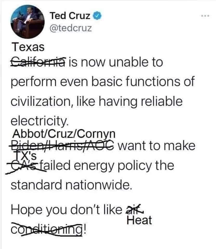 Ted Cruz Texas tweet