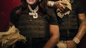 Moneybagg Joe and Kamala Harris meme