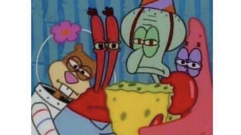 Us with Saweetie rn Spongebob meme