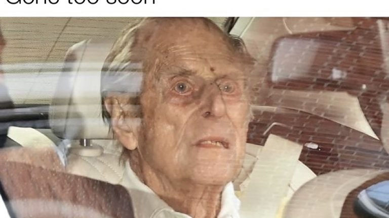 Prince Phillip gone too soon meme