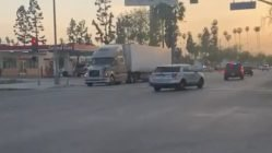 Truck driver stops police chase