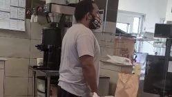 Angry Hardee's customer steals sandwich