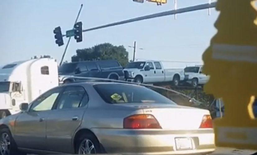 Train wreck caught on camera