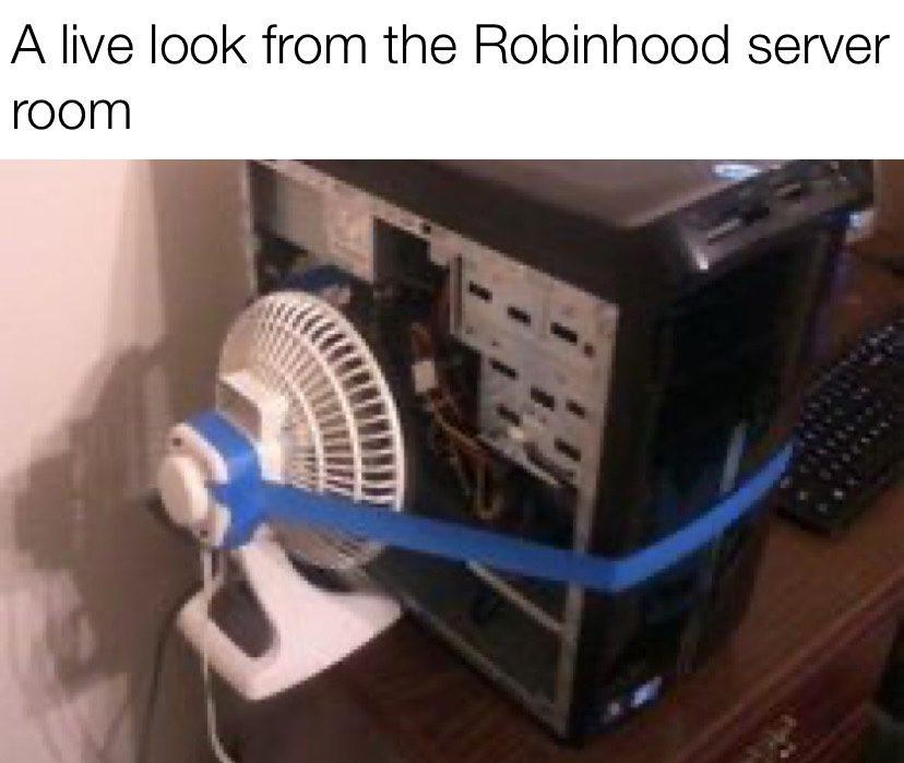 A live look from the Robinhood server room meme