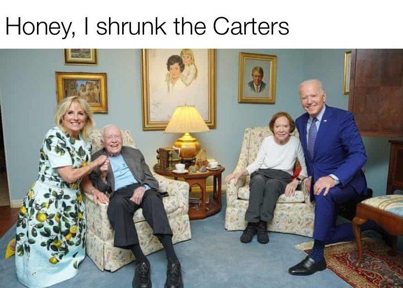 Honey, I shrunk the Carters Joe Biden & President Jimmy Carter meme