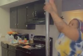 Mom takes a stab at pole dancing