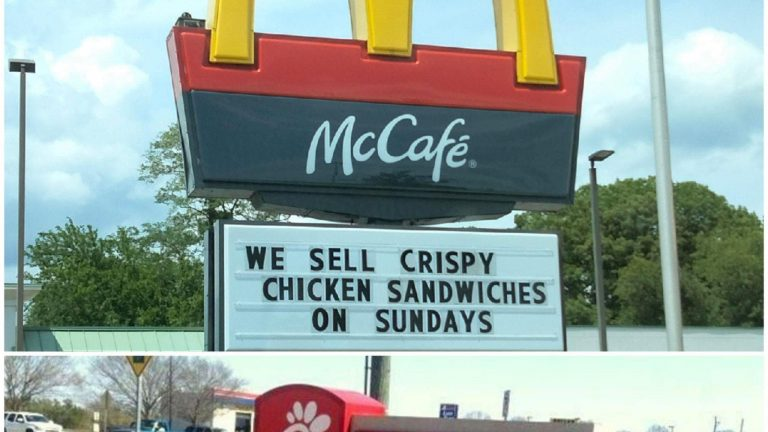 McDonald's vs ChickFilA sign war