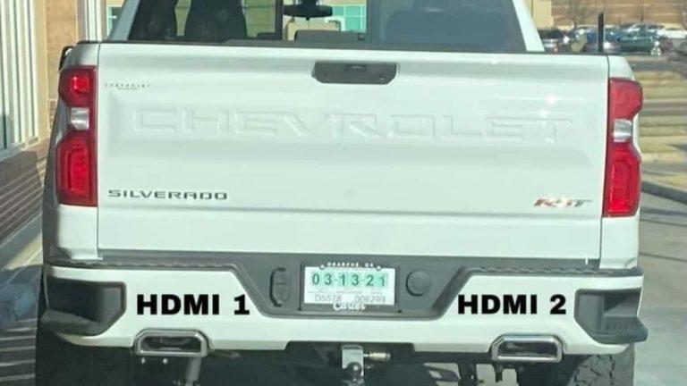 Chevy Silverado HDMI 1 & 2 meme
