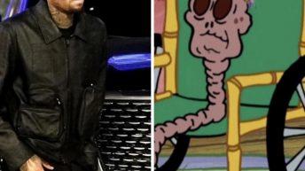 Chris Brown Spongebob chocolate lady meme