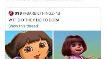 The new Dora look like she bite