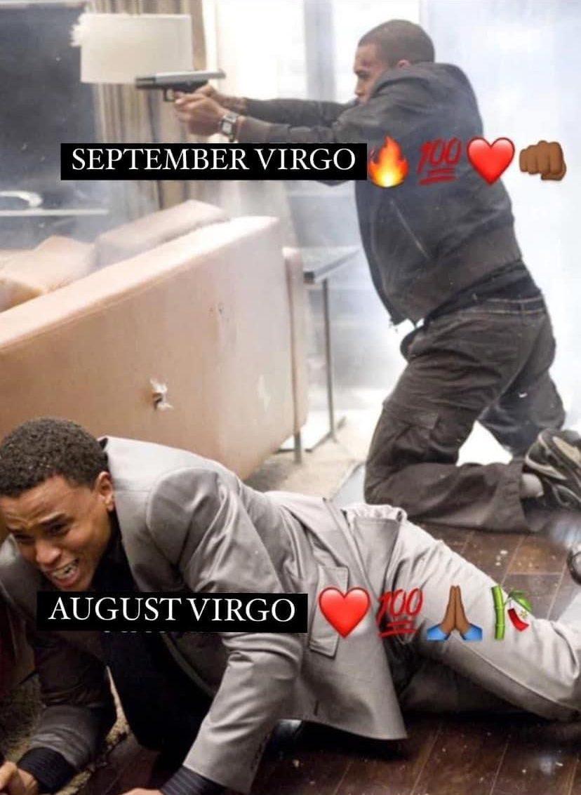 August Virgo vs September Virgo meme
