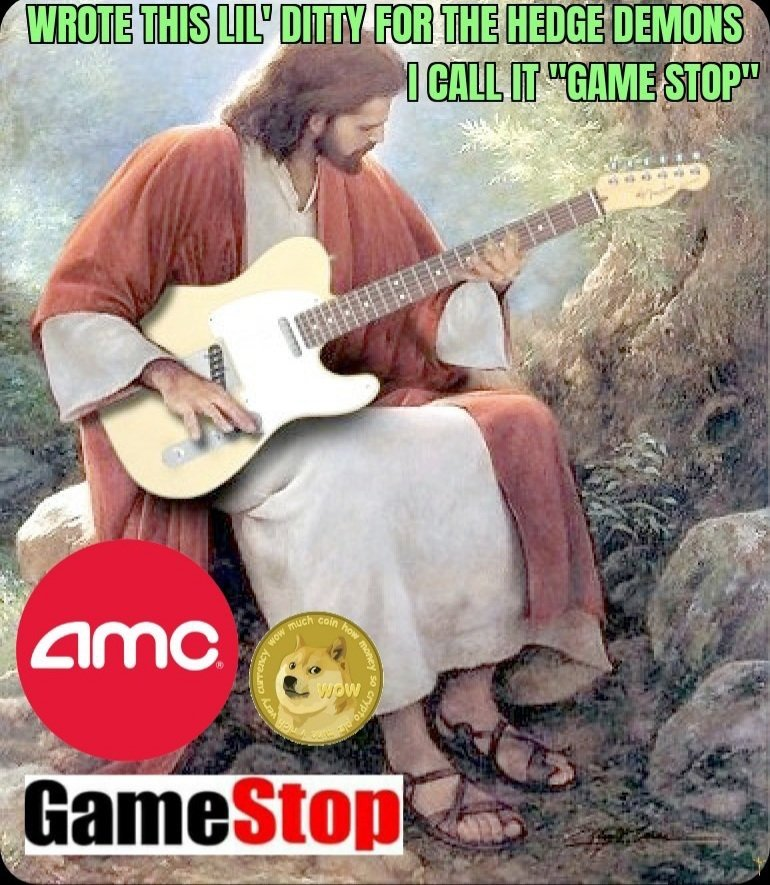 Wrote this lil ditty for the hedge demons I call it game stop dogecoin meme