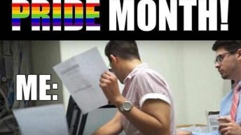 It's officially pride month meme