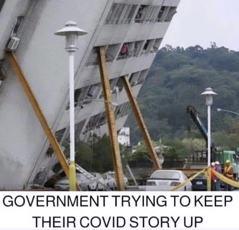 Government trying to keep their COVID story up meme