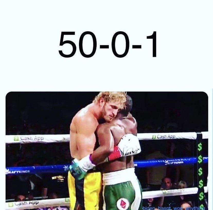 Floyd Mayweather boxing record 50-1 meme