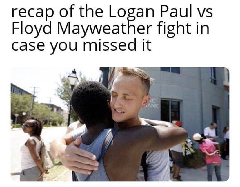 Recap of the Logan Paul vs Floyd Mayweather fight in case you missed it meme