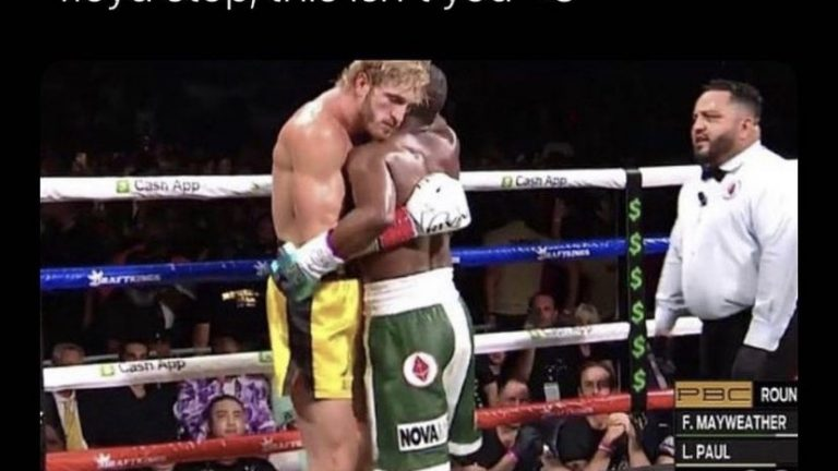 Floyd stop, this isn't you Logan Paul vs Floyd Mayweather boxing meme