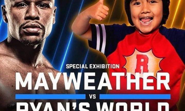 Floyd Mayweather vs Ryan's World fight meme
