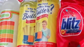 Who told you this was butter freshening spray